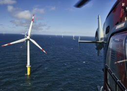 Wikinger, Offshore-Windpark Borkum West in der Nordsee